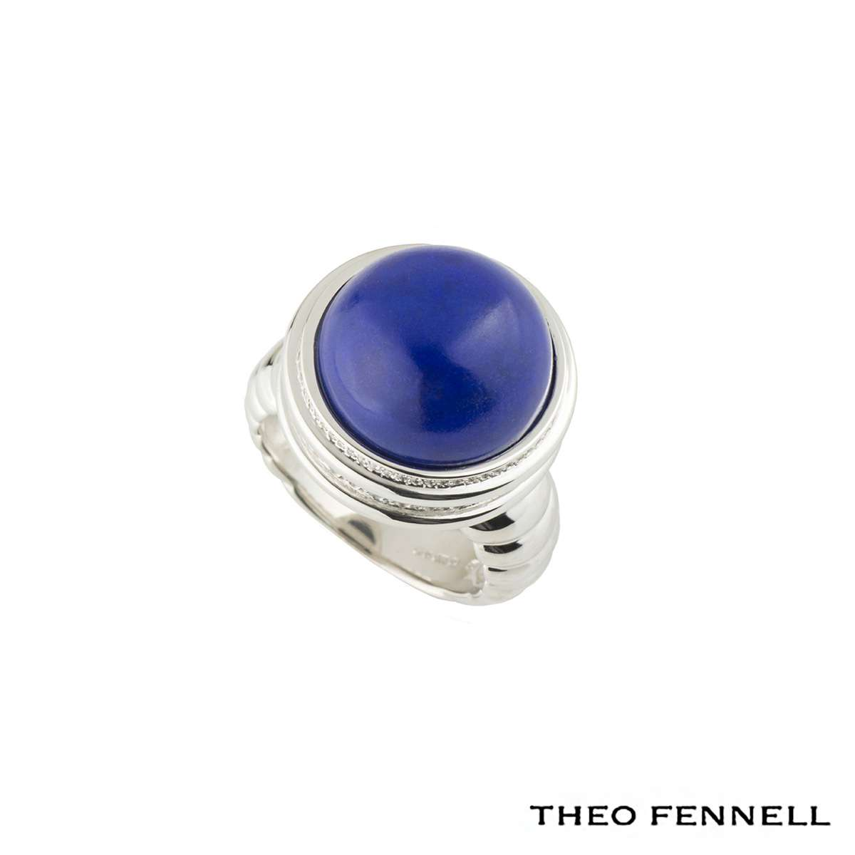 Theo Fennell Whisper Diamond and Lapis Lazuli Ring